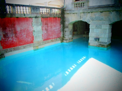 Swimming pool and grotto and Vizcaya