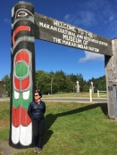 Laura at the Makah Museum entrance